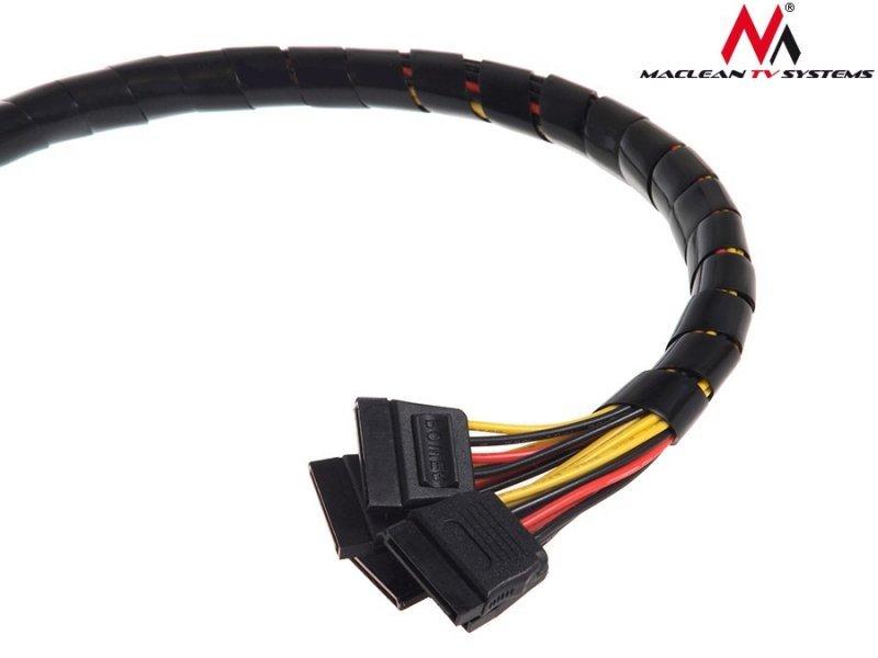 MCTV-685 B 43133 Osłona maskująca na kable (8.7*10mm) 3m czarna spirala