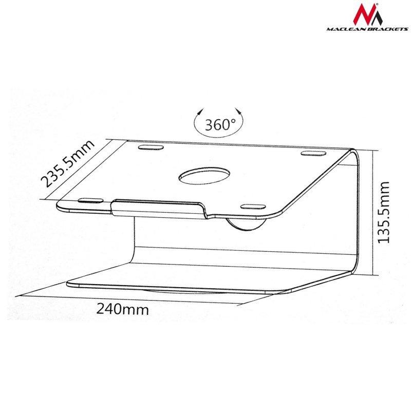 MC-730 45959 Podstawka pod laptopa aluminiowa