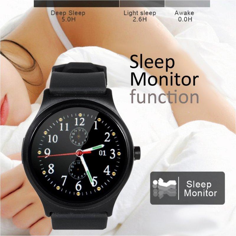 Smartwatch inteligentny zegarek RS100 NanoRS bluetooth krokomierz monitor snu pomiar tętna  czarny
