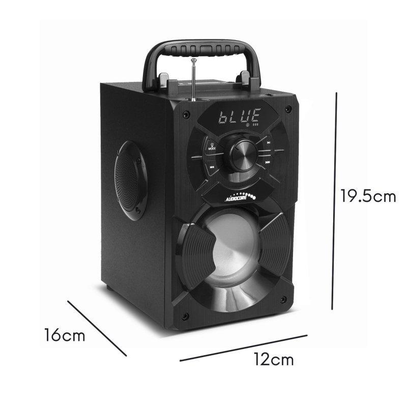 Głośnik przenośny bluetooth Audiocore, radio FM, wejście kart SD/MMC, AUX, USB, pilot, AC730