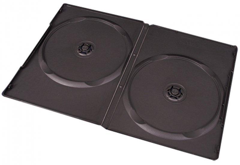 3033 Pudełko na 2 dvd slim - czarne (9 mm.)