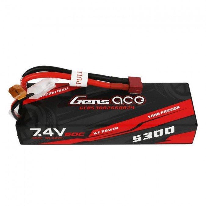 5300mAh 7.4V 60C HardCase Gens Ace
