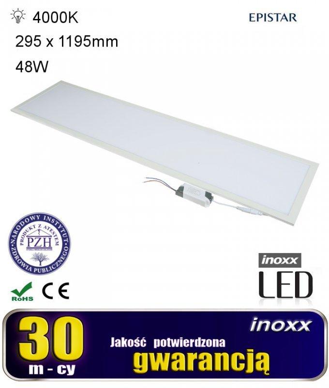 Panel led sufitowy 120x30 48w lampa slim kaseton 4000k neutralny