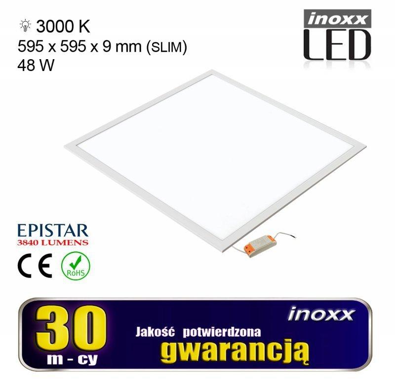 Panel led 60x60 48w lampa sufitowa kaseton 3000k ciepły