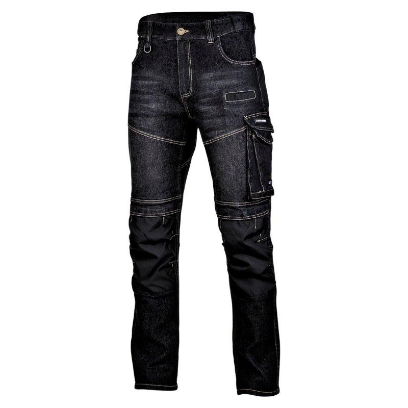 """Spodnie jeansowe czarne stretch ze wzmocn., """"xl"""", ce, lahti"""