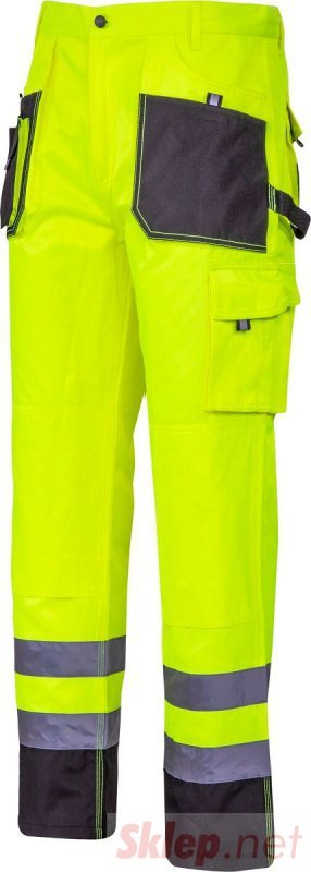 """Spodnie ostrzegawcze czarno-żółte, """"xl"""", ce, lahti"""