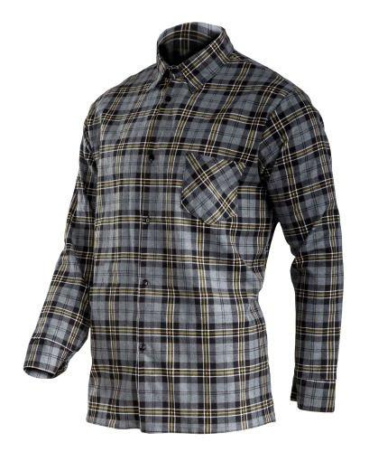 "Koszula flanelowa szara, 170g/m2, ""2xl"", ce, lahti"