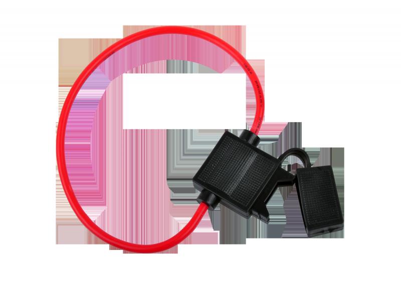 Gniazdo bezpiecznika nożowego (20mm) z przewodem 2,5mm