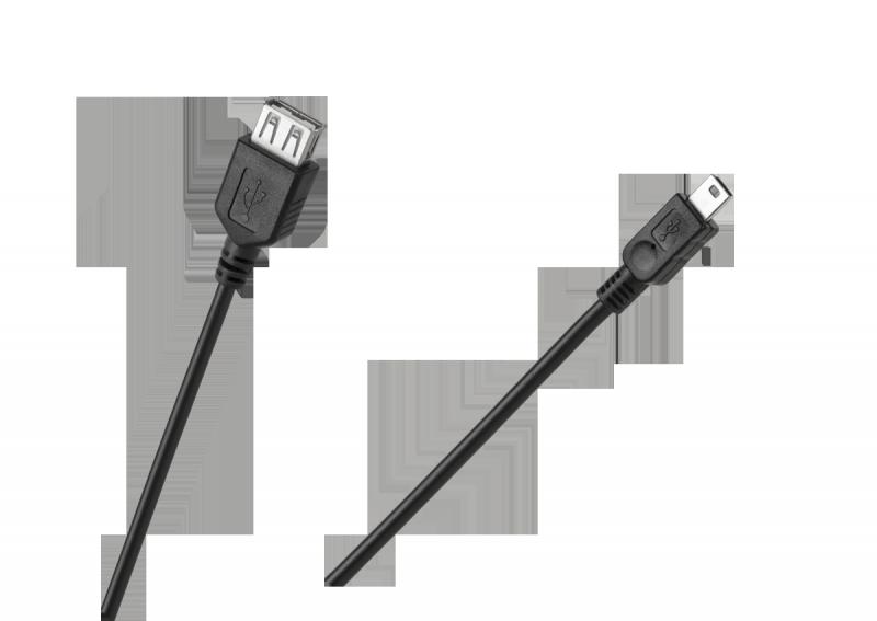 Kabel USB gniazdo A - wtyk mini USB 5pin