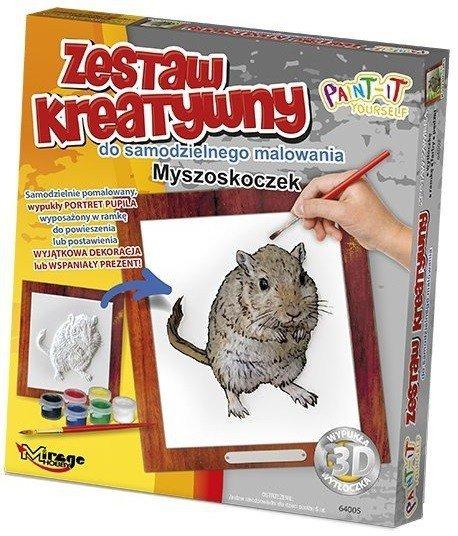 FUTRZAKI - Wypukła Malowanka Seria FUTRZAKI - MYSZOSKOCZEK