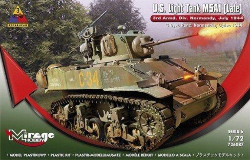 U.S. Light Tank M5A1 LATE 4th Dywizja Pancerna, Normandia, 1944 Operacja Kobra