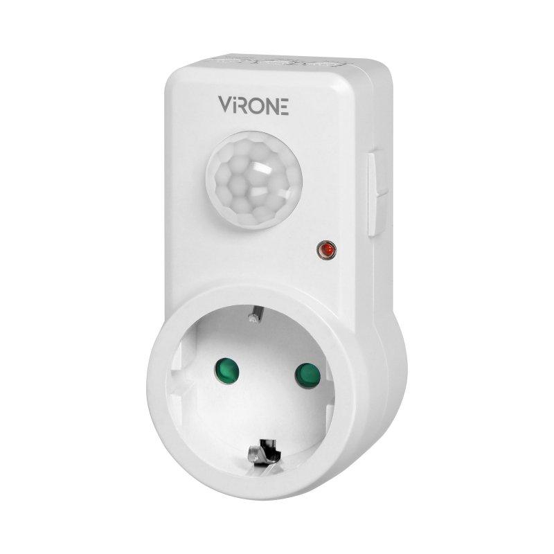 Gniazdkowy czujnik ruchu 120°, IP20, 280W, wersja Schuko