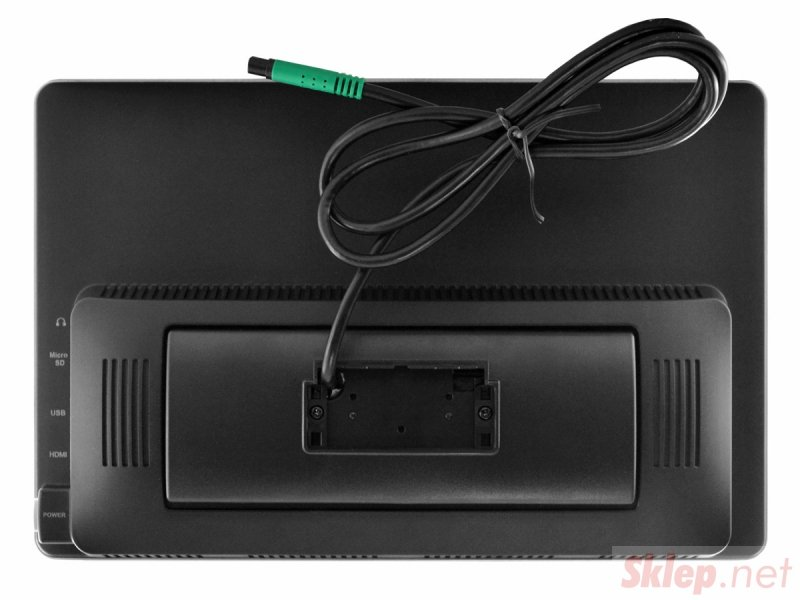 Monitor samochodowy zagłówkowy slim led 12cali full hd z systemem android oraz usb sd fm bt wifi 12v