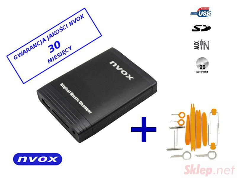Zmieniarka cyfrowa emulator MP3 USB SD SMART FIAT LANCIA 8PIN... (NVOX NV1086M SMART 8PIN)