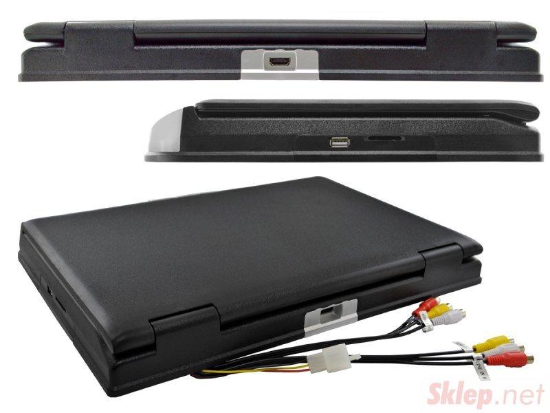 Monitor podwieszany podsufitowy LCD 15cali cali DVD USB SD IR FM GRY... (NVOX RF1515D Black)