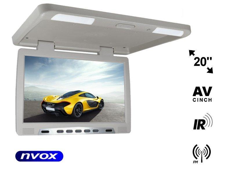 Monitor podwieszany podsufitowy LCD 20cali cali LED FM IR VGA... (NVOX RF2090 GR)