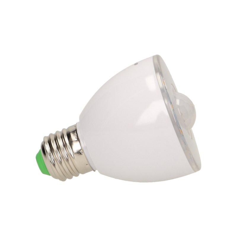 RICU LED 5W A60, żarówka z czujnikiem ruchu, 330-390lm, 3000K, E27