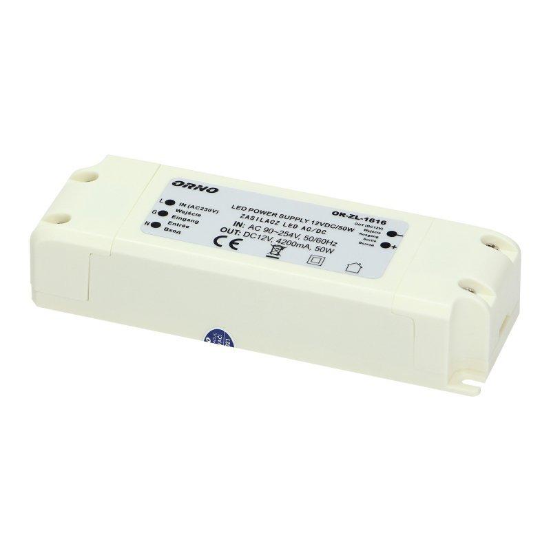 Zasilacz do LED  12VDC 50W, IP20