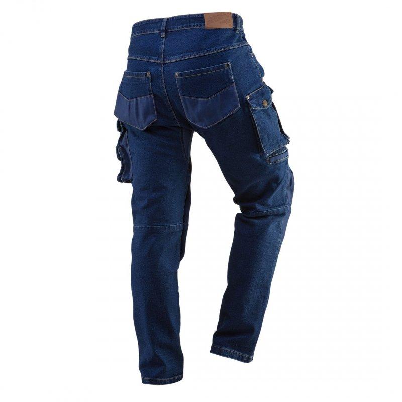 Spodnie robocze DENIM, wzmocnienia na kolanach, rozmiar XL