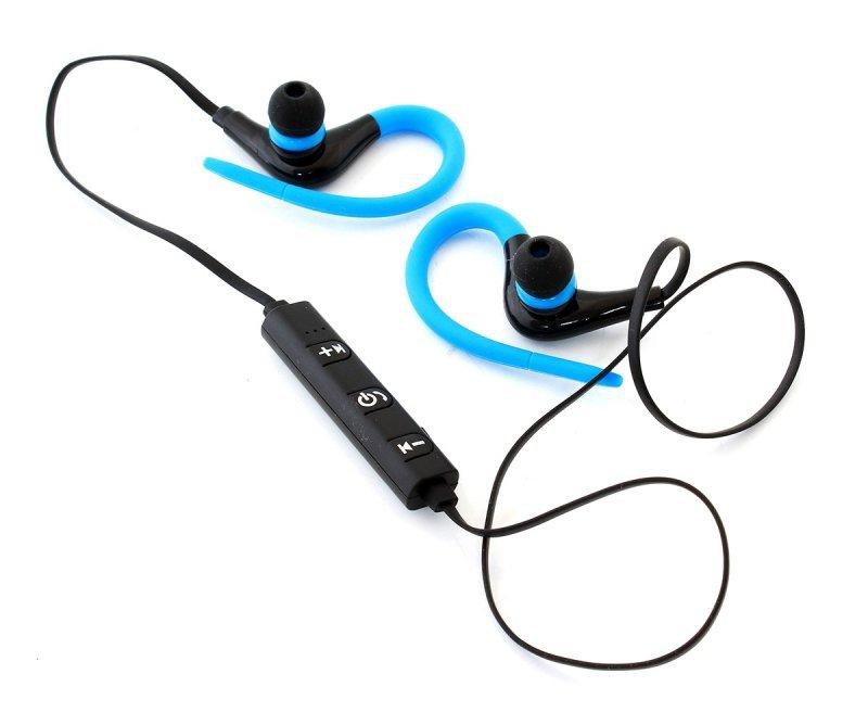 ZS27A Słuchawki sportowe z hakiem blue