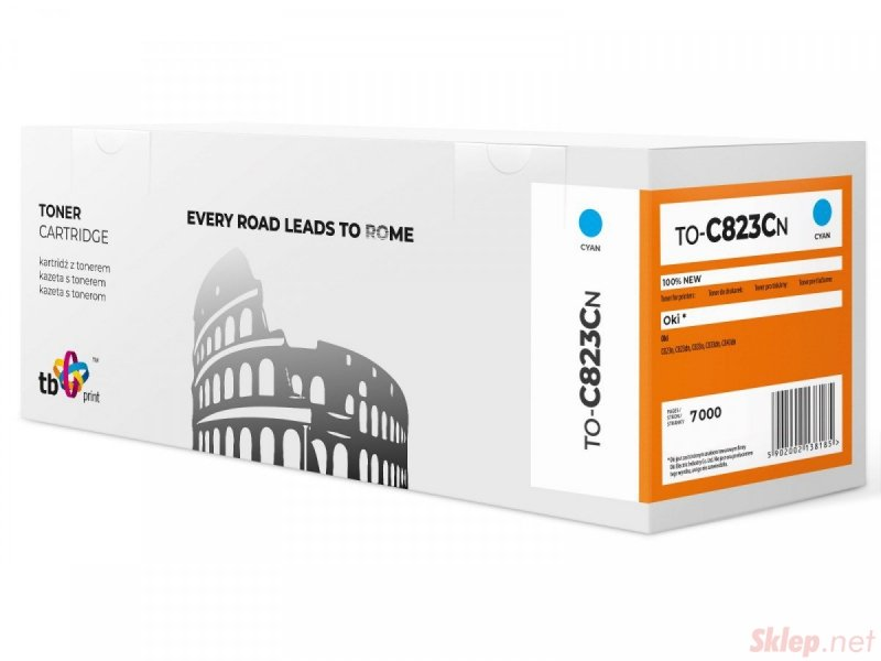 Toner do OKI C823 TO-C823CN CY 100% nowy