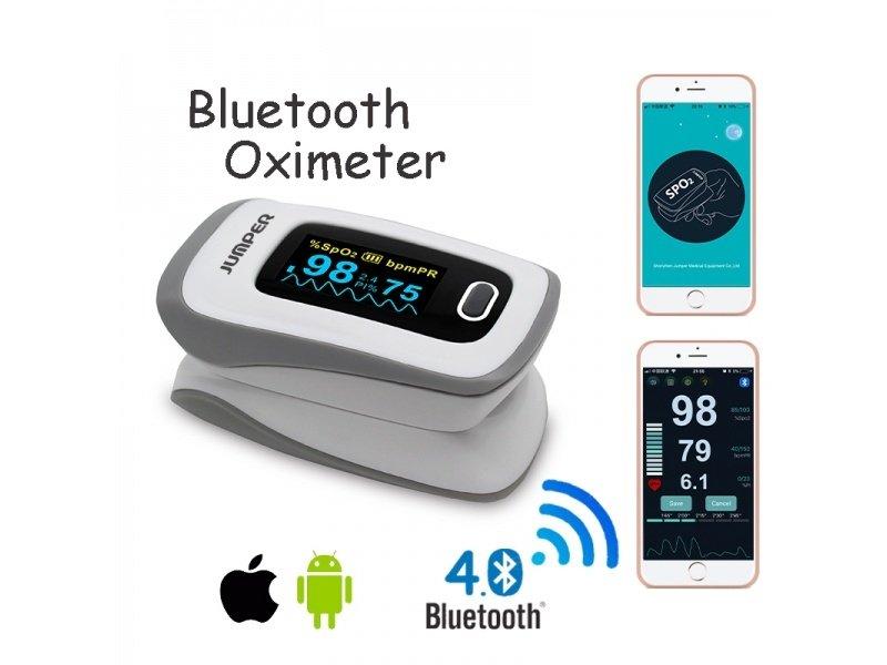 JUMPER JPD-500F Szary OLED Pulsoksymetr napalcowy z Bluetooth