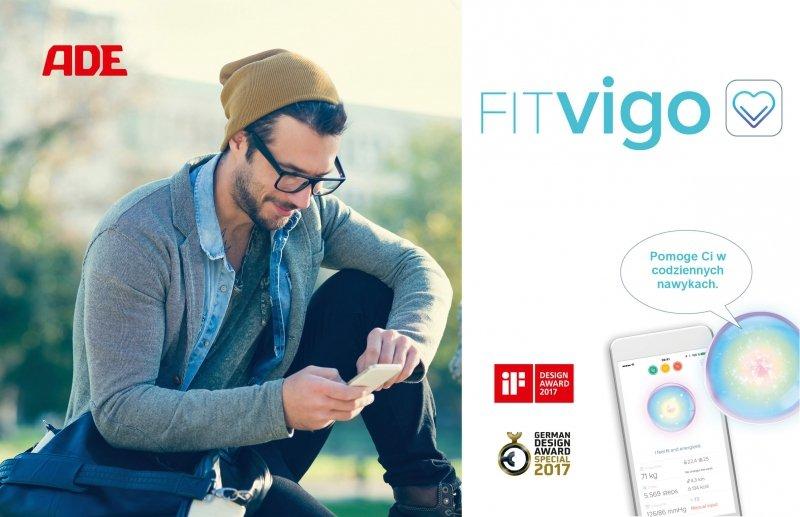 ADE FITVigo BA1800 Cyfrowa waga z analizą składu ciała biała z Bluetooth