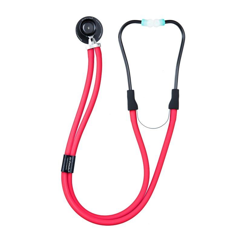 Dr. Famulus DR 410 D-czerwony Stetoskop następnej generacji, Strojenie Fine Tune,  Kardiologiczny, Rappaport