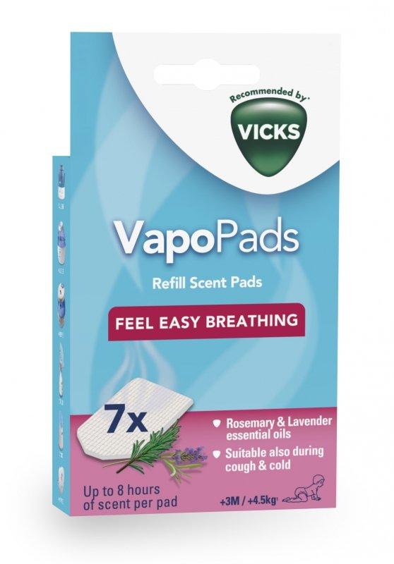 VICKS Pediatric VapoPads / opk. 7 szt Wkładki zapachowe rozmaryn z lawendą