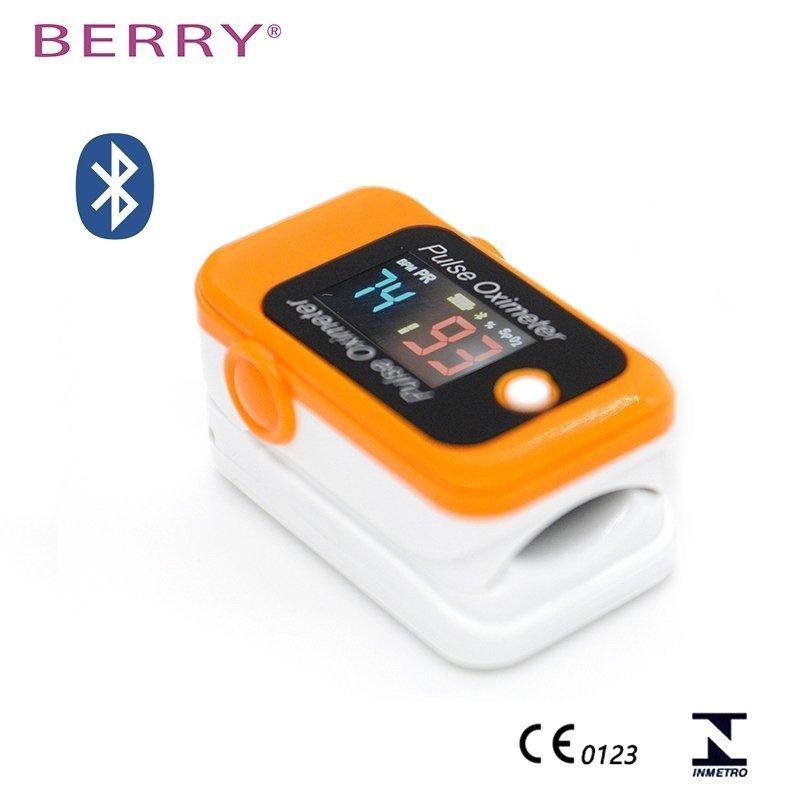 Berry BM1000C  z bluetoooth pomarańczowy Pulsoksymetr model  z bluetoooth pomarańczowy
