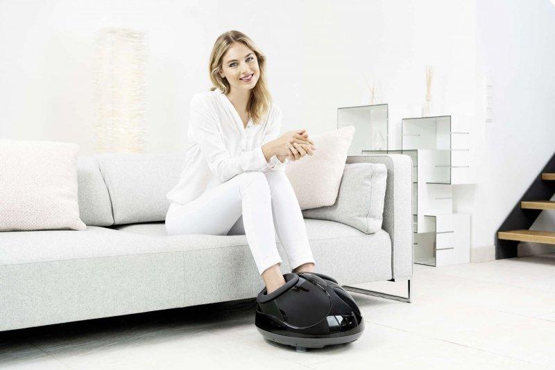 BEURER FM 90 Aparat do masażu shiatsu stóp, masaż pneumatyczny z 3 poziomami intensywności