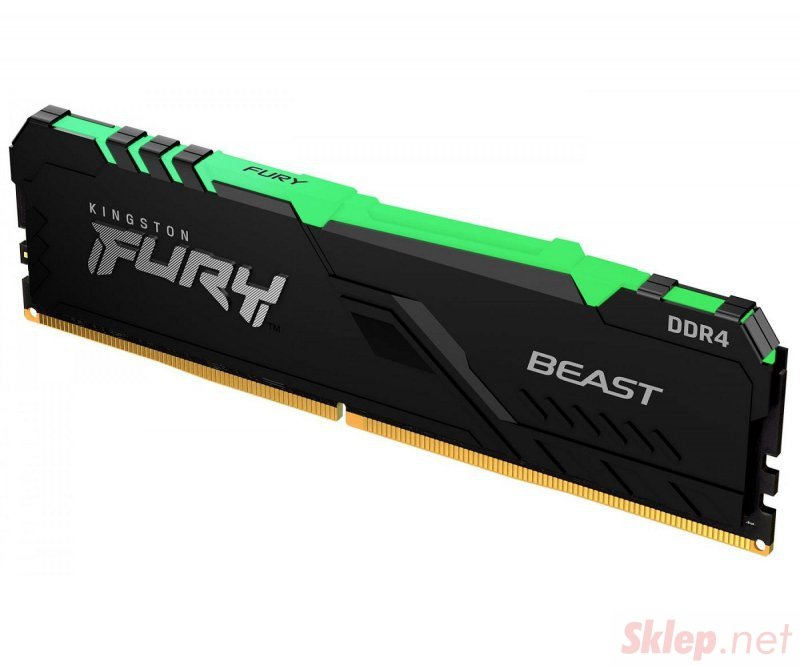 Pamięć RAM HyperX Fury Beast RGB 16GB (2x8GB) DDR4 3200MHz
