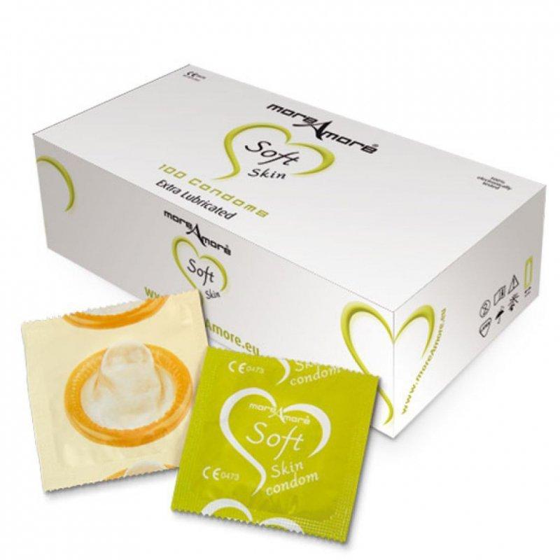 Prezerwatywy MoreAmore Soft Skin - miękkie, waniliowe - 100 szt.