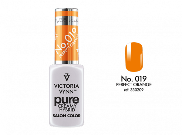 019 Perfect Orange - kremowy lakier hybrydowy Victoria Vynn PURE (8ml)