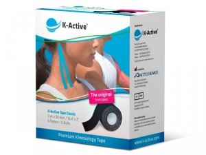 K-Active Kinesiology Tape kolor czarny  5 cm/5 m (Nitto)