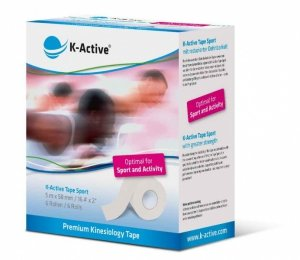 K-Active Kinesiology Tape Sport Biały 5 cm/5 m (Nitto)