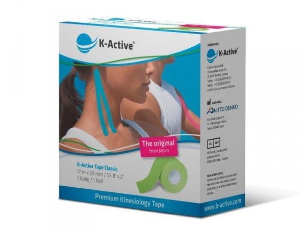 K-Active Kinesiology Tape kolor zielony 5cm/17 m (Nitto)