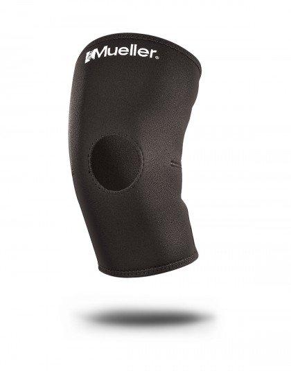Ochraniacz kolana z otworem na rzepkę