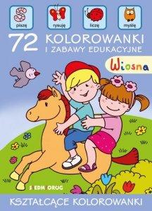 Wiosna 72 kolorowanki i zabawy edukacyjne