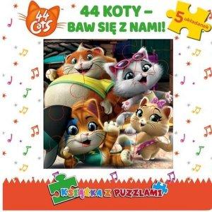 44 cats. Książka z puzzlami