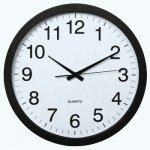 Zegar ścienny PG-400 Jumbo, cichy, czarny