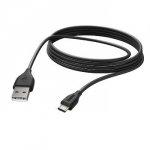 Kabel do ładowania i synchronizacji, mikro usb, 3 m, czarny
