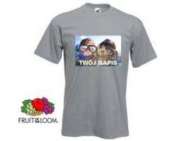 Szara koszulka t-shirt z nadrukiem a4