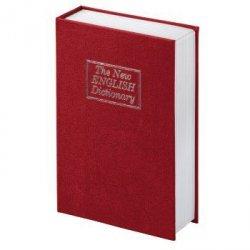 Książka-sejf bs-180, wykonanie: the new english dictionary, czerwona