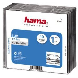Hama Pudełko CD-Slim  Standard, 10 -pak 512750000