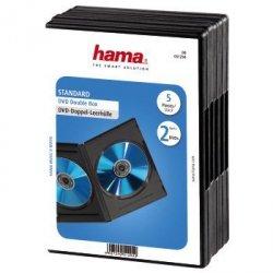 Hama Pudełko podwójne DVD czarne 5- pak 512940000