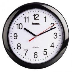 Czarno-biały zegar ścienny pp-250 czarny