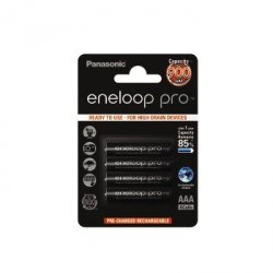 4 akumulatorki Panasonic Eneloop Pro R3 AAA 900