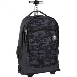 Chiemsee SS16 plecak na kółkach WHEELY *L0362 TYPO BLACK