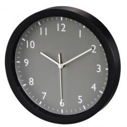 Zegar ścienny pure, Ø 25 cm, cichy, szary